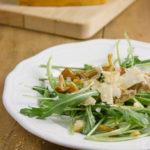 Insalata croccante di rucola, parmigiano e funghi