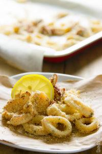 Anelli di calamari al forno