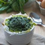 Sformatino di spinaci e basilico