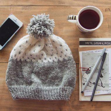 Lavoro a maglia - Cappello con cuori