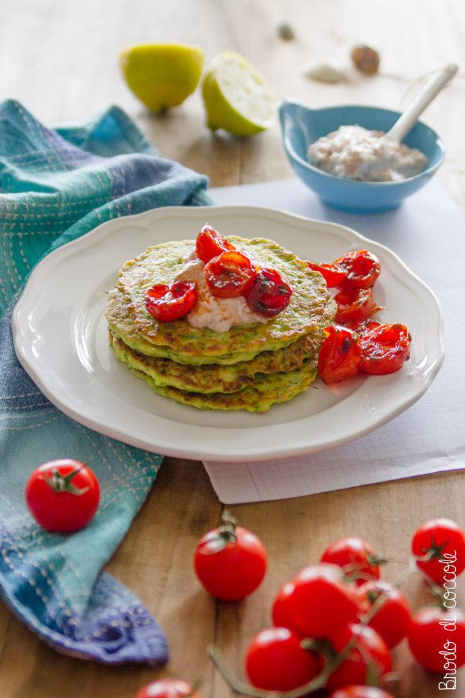 Pancake salati di zucchine