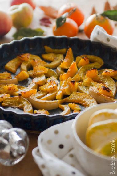 Zucca al forno con arancia e pepe