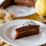 Torta sette vasetti cioccolato, castagne e pere