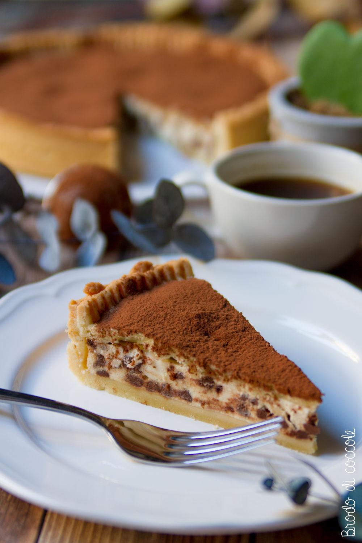 Crostata con ricotta e gocce di cioccolato