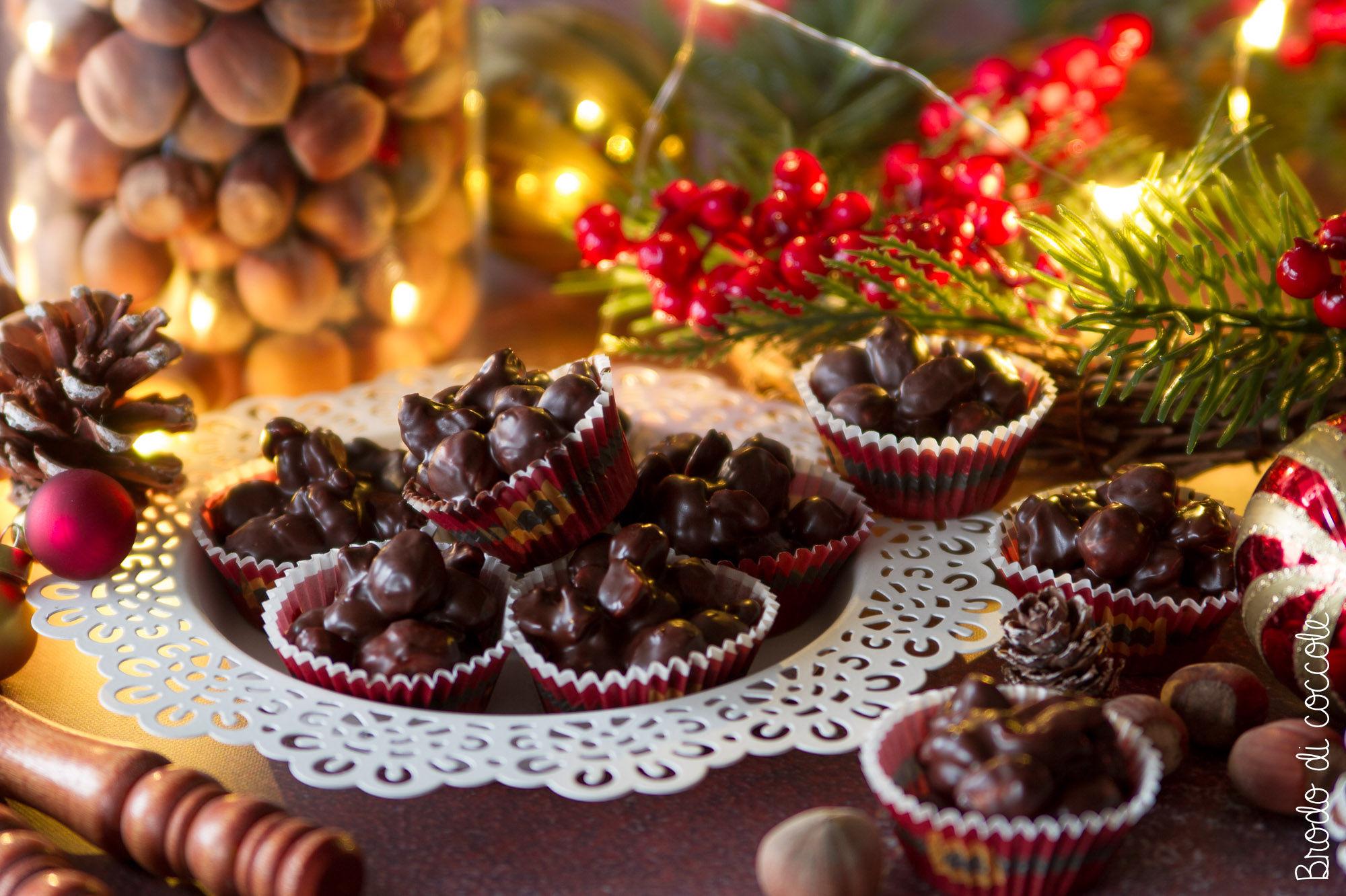 Cioccolatini con la frutta secca