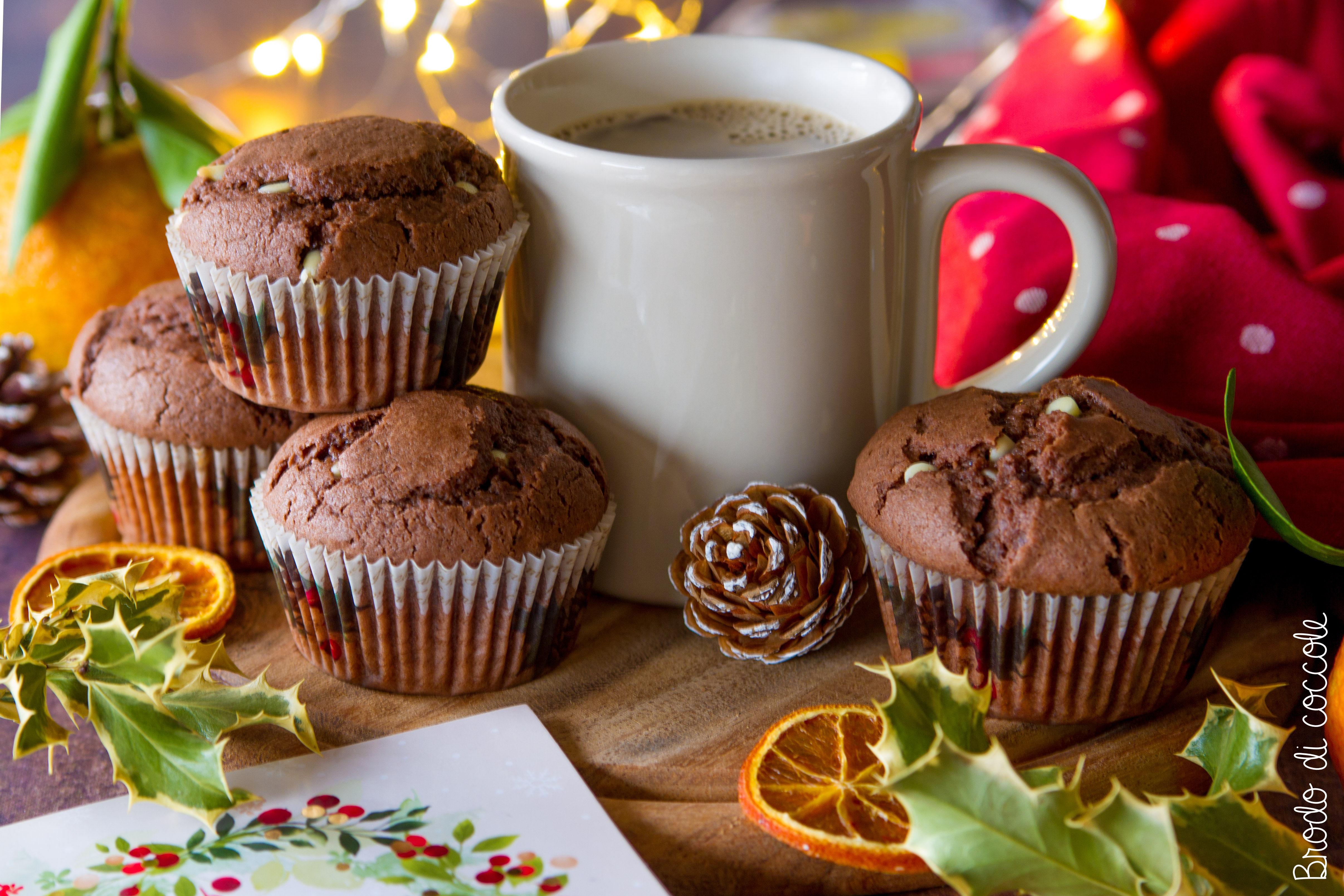 Muffin con arancio e cioccolato