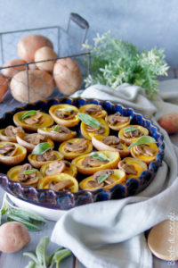 Cestini di patate con fonduta e funghi