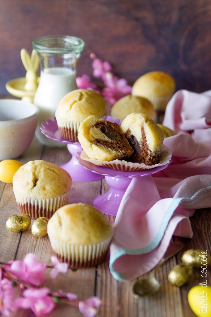 Muffin con sorpresa di ovetti al cioccolato