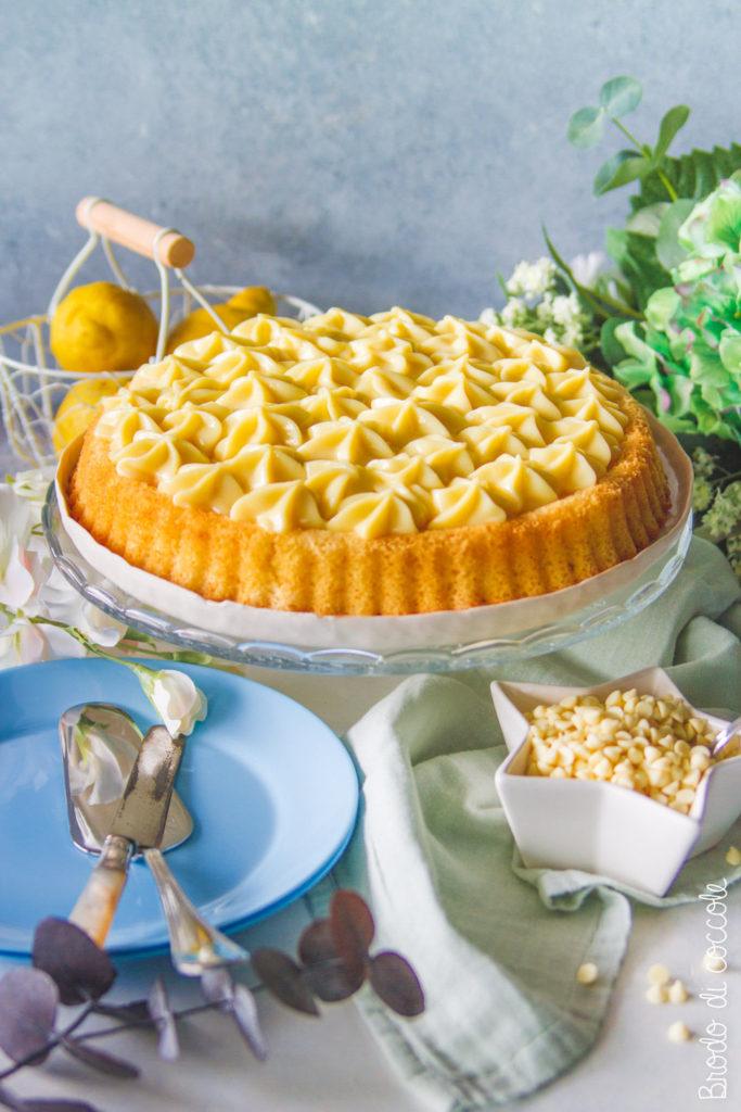 Crostata morbida al cioccolato bianco e limone
