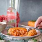 Timballini di riso al pomodoro con cuore filante