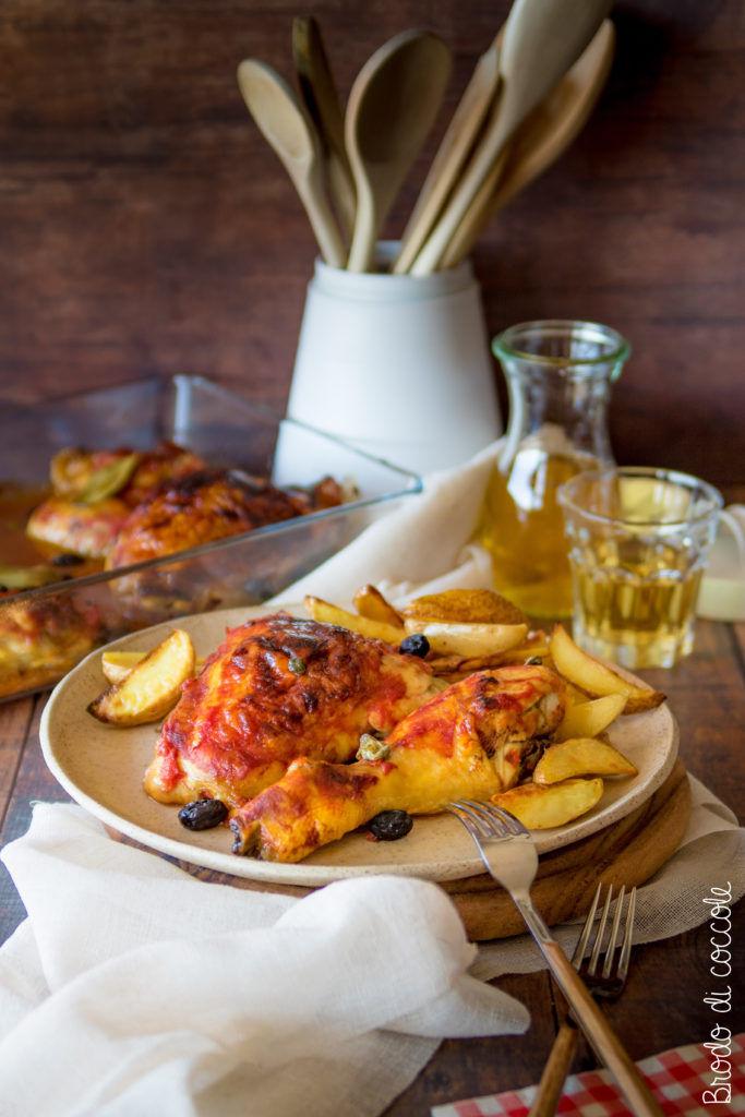 Pollo alla cacciatora al forno