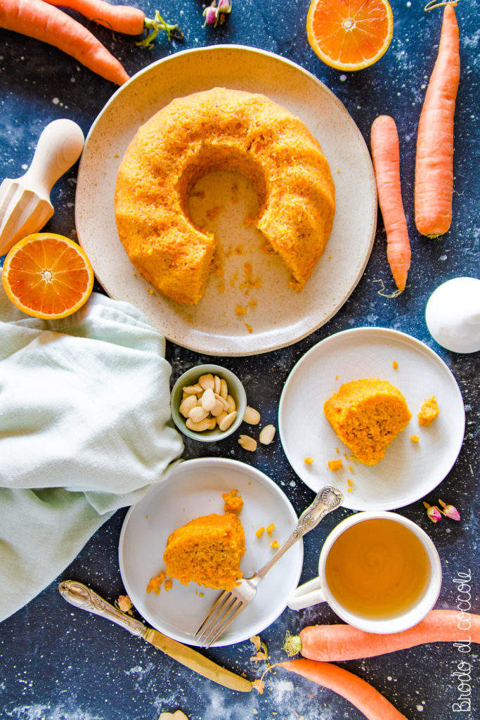 Torta di carote all'acqua