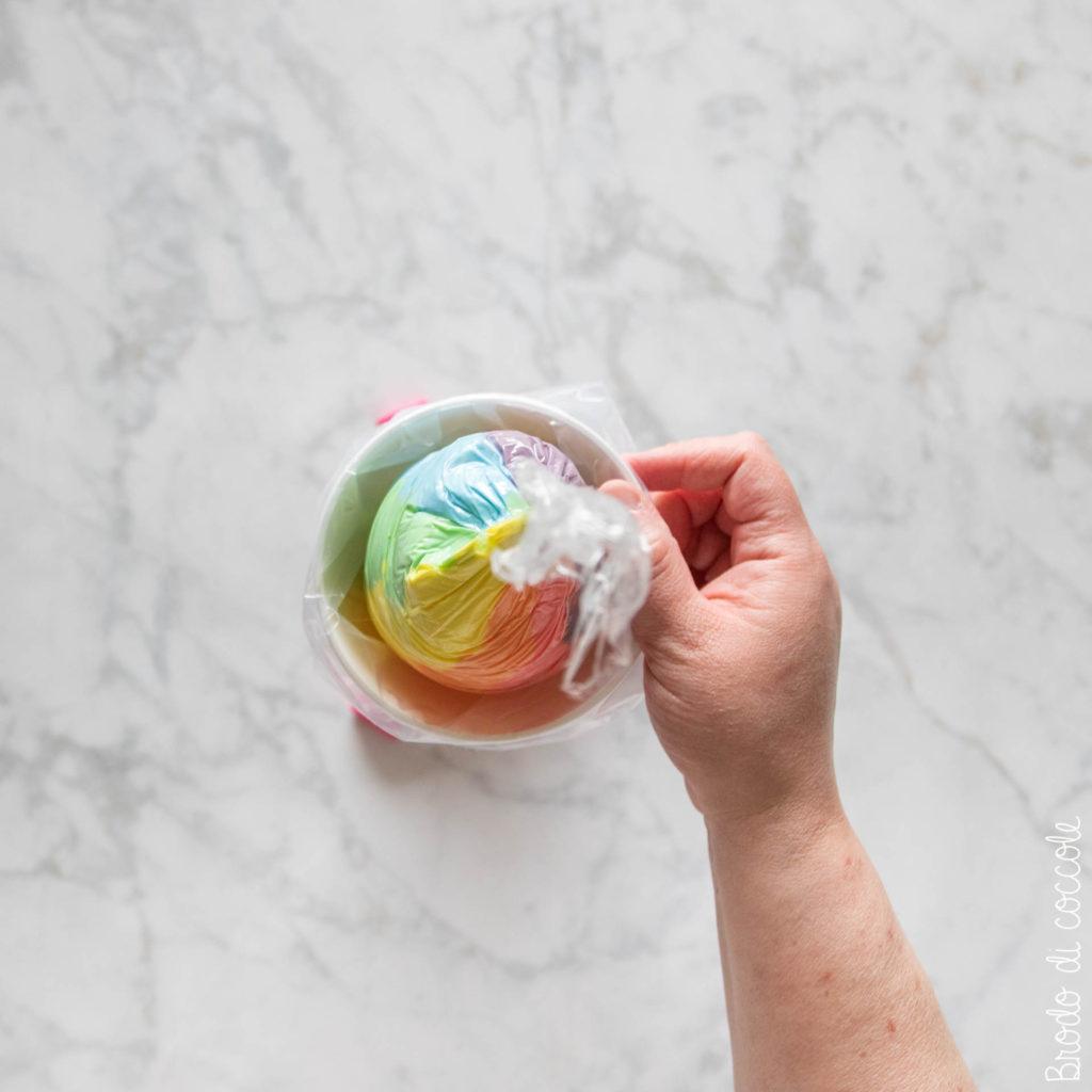 Cupcake arcobaleno - Come fare