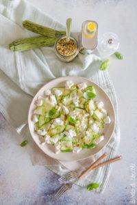 Carpaccio di zucchine con ricotta e pistacchi