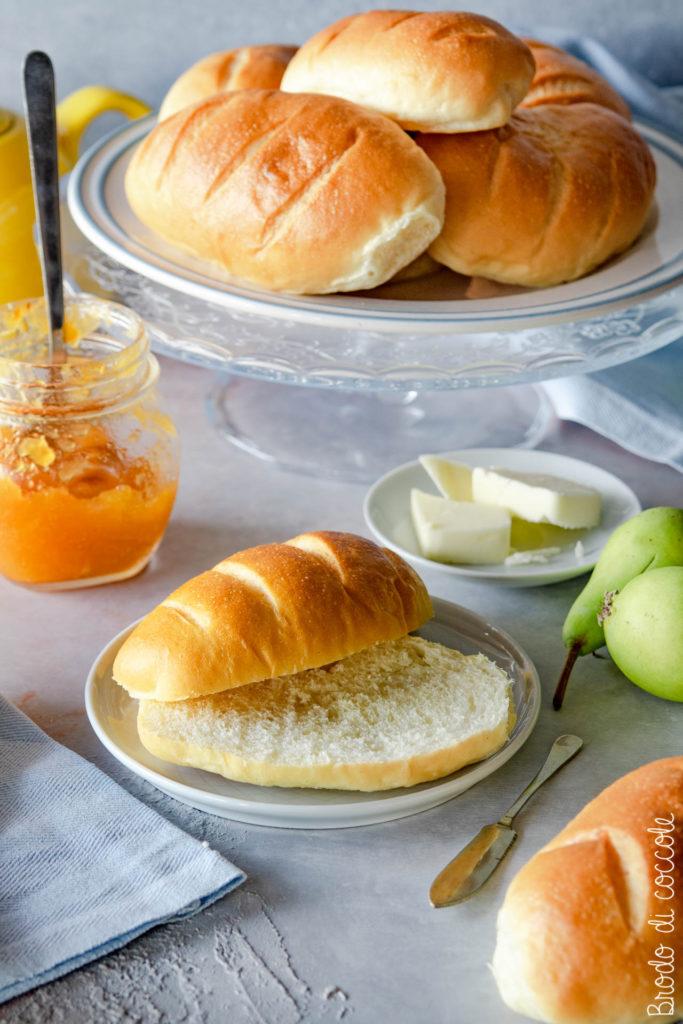 Mini baguette di pan brioche