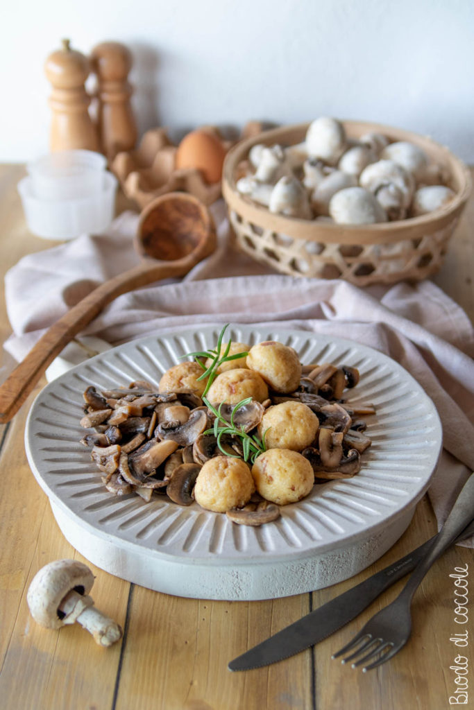 Polpette di ricotta ai funghi